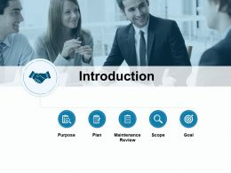 Introduction Maintenance Review Goal Plan Ppt Powerpoint Presentation File Example Introduction