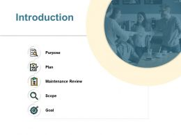 Introduction Maintenance Review Ppt Powerpoint Presentation File Layout