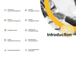 Introduction Management Ppt Powerpoint Presentation Infographics