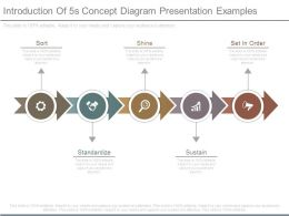 Introduction Of 5s Concept Diagram Presentation Examples