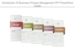 Introduction Of Business Process Management Ppt Powerpoint Guide