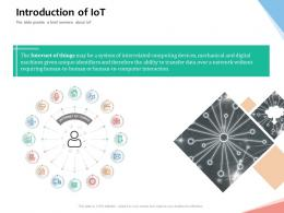 Introduction Of IoT Internet Of Things IOT Overview Ppt Powerpoint Presentation Ideas Guidelines