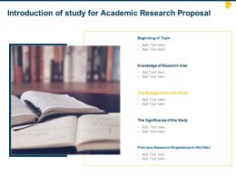 Introduction Of Study For Academic Research Proposal Ppt Powerpoint Icon Ideas