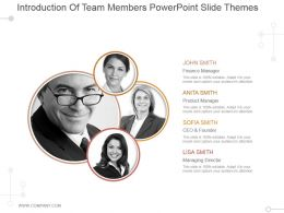 Introduction Of Team Members Powerpoint Slide Themes