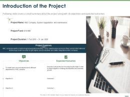 Introduction Of The Project Ppt Powerpoint Presentation Styles Graphics Tutorials