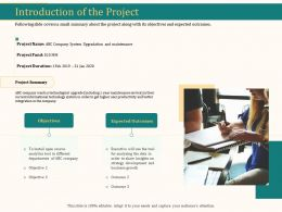 Introduction Of The Project Ppt Slides Background Designs