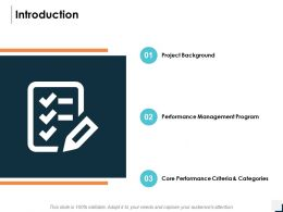 Introduction Performance Management Program Ppt Powerpoint Presentation Gallery Vector