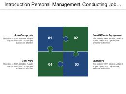 Introduction Personal Management Conducting Job Analysis Receiving Inspections