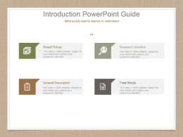 Introduction Powerpoint Guide