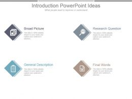 Introduction Powerpoint Ideas