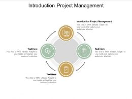 Introduction Project Management Ppt Powerpoint Presentation Professional Graphic Tips Cpb
