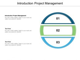 Introduction Project Management Ppt Powerpoint Presentation Summary Model Cpb