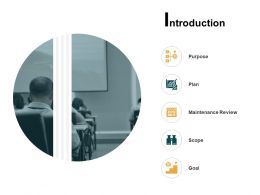 Introduction Purpose Maintenance Review Ppt Powerpoint Presentation Icon Outline