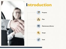Introduction Purpose Scope Ppt Powerpoint Presentation Infographics Show