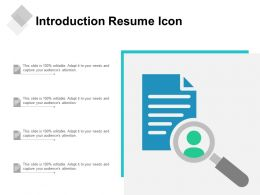 Introduction Resume Icon