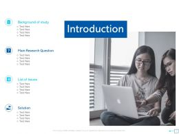 Introduction Solution Ppt Powerpoint Presentation Gallery Example Introduction