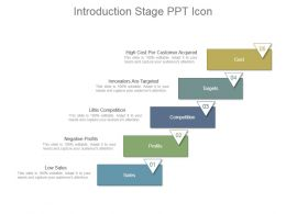 Introduction Stage Ppt Icon