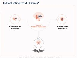 Introduction To AI Levels Narrow Powerpoint Presentation Clipart Images