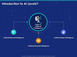 Introduction To AI Levels Ppt Powerpoint Presentation Model Vector