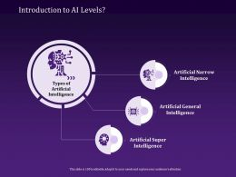 Introduction To AI Levels Super Ppt Powerpoint Presentation File Icon