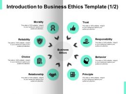 Introduction To Business Ethics Checklist Success Ppt Powerpoint Presentation Icon Maker