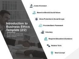 Introduction To Business Ethics Provides Basic Framework Ppt Powerpoint Presentation Gallery Show