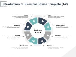 Introduction To Business Ethics Template Responsibility Ppt Powerpoint Presentation Gallery Styles