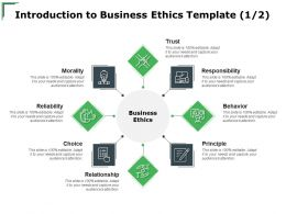 Introduction To Business Ethics Template Treat Ppt Powerpoint Presentation Model Files