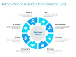 Introduction To Business Ethics Template Trust Ppt Powerpoint Presentation Show