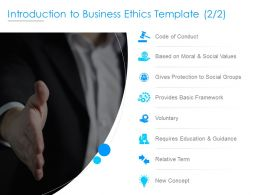 Introduction To Business Ethics Template Values Ppt Powerpoint Presentation Images