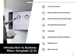 Introduction To Business Ethics Template Voluntary Powerpoint Slides
