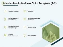 Introduction To Business Ethics Template Voluntary Ppt Slides