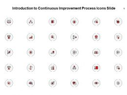 Introduction To Continuous Improvement Process Icons Slide Pillars Ppt Slides