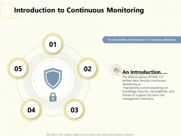 Introduction To Continuous Monitoring Structure Ppt Powerpoint Presentation Model Structure