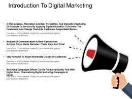 Introduction To Digital Marketing Ppt Examples