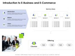 Introduction To E Business And E Commerce E Business Management Ppt Mockup