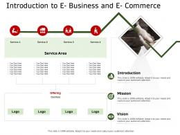 Introduction To E Business And E Commerce Ecommerce Solutions Ppt Graphics
