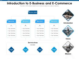 Introduction To E Business And E Commerce M988 Ppt Powerpoint Presentation Professional Structure