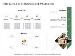 Introduction To E Business And E Commerce Online Trade Management Ppt Mockup