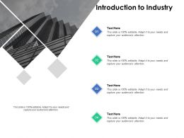 Introduction To Industry Company B263 Ppt Powerpoint Presentation File Layout