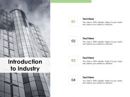 Introduction To Industry Company Profile Ppt Powerpoint Presentation Pictures Slides