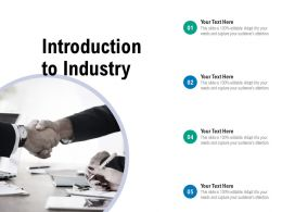 Introduction To Industry Ppt Powerpoint Presentation File Maker