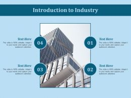 Introduction To Industry Ppt Slides Pictures