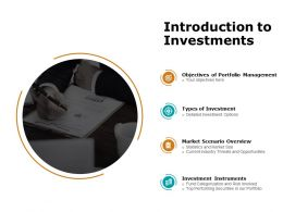 Introduction To Investments Ppt Powerpoint Presentation Microsoft