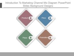 Introduction To Marketing Channel Mix Diagram Powerpoint Slides Background Designs