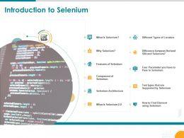 Introduction To Selenium Different Types Locators Powerpoint Presentation Slide Portrait