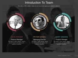 Introduction To Team Powerpoint Slide Deck Samples
