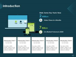 Introduction Video Views M1148 Ppt Powerpoint Presentation Show Information
