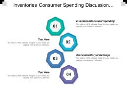 Inventories Consumer Spending Discussion Corporate Image Sustainable Symbol