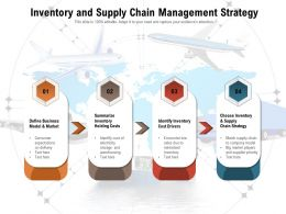 Inventory And Supply Chain Management Strategy
